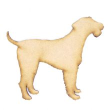 Airedale Terrier - 3mm MDF Laser Cut Craft Blank Scrapbook Topper Pyrography